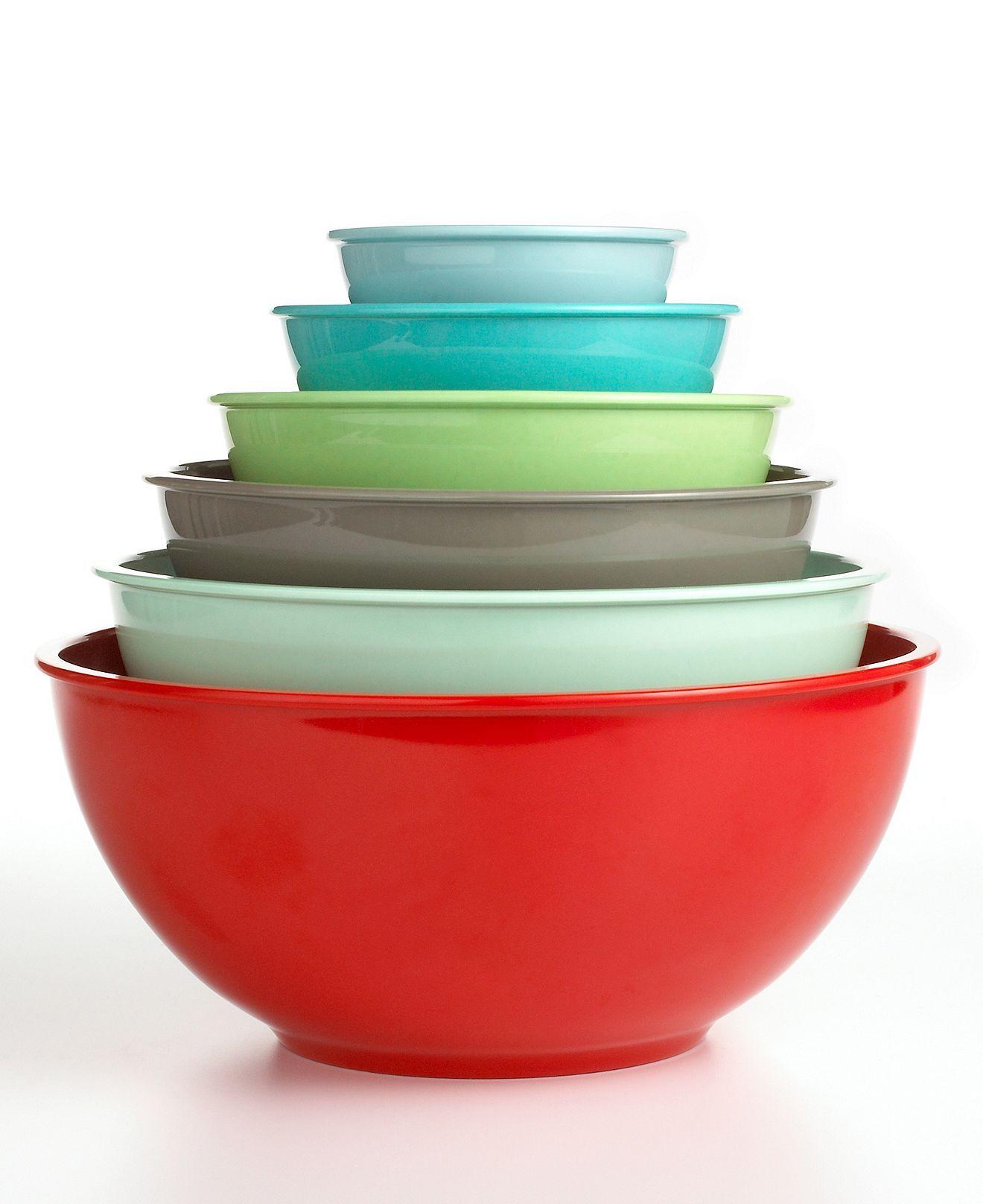 Martha Stewart Collection Mixing Bowls, Set Of 6 Melamine   Kitchen Gadgets    Kitchen   Macyu0027s