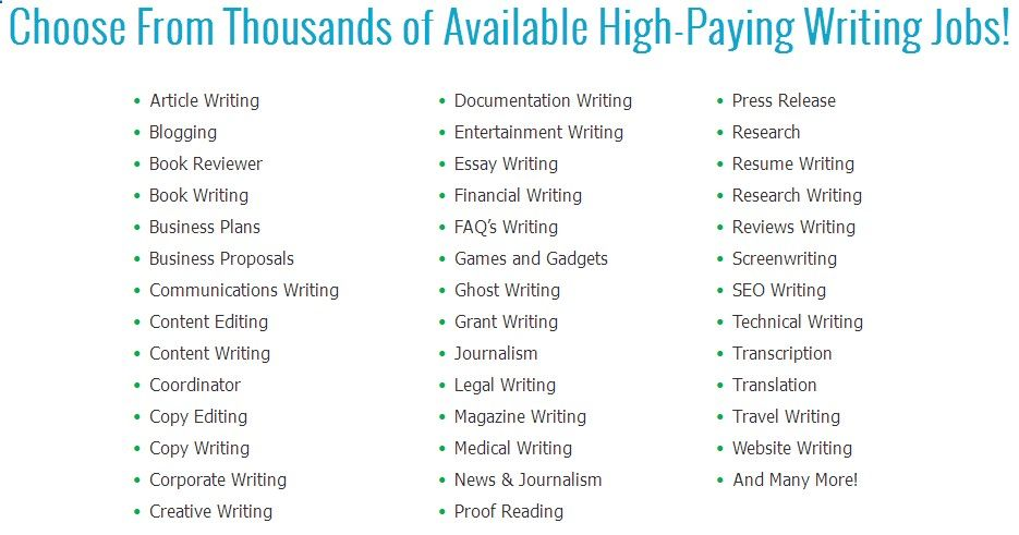 Top High-Paying Writing Jobs - Work From Home Jobs \u2013 Fun and Easy To