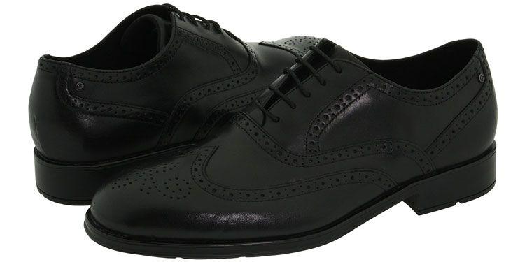 men, Shoes black leather