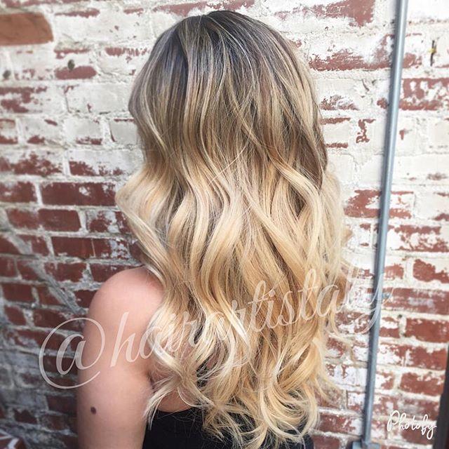 Beachy Blonde Balayage Long Layered Haircut Hair By Aly Tompkins Mon