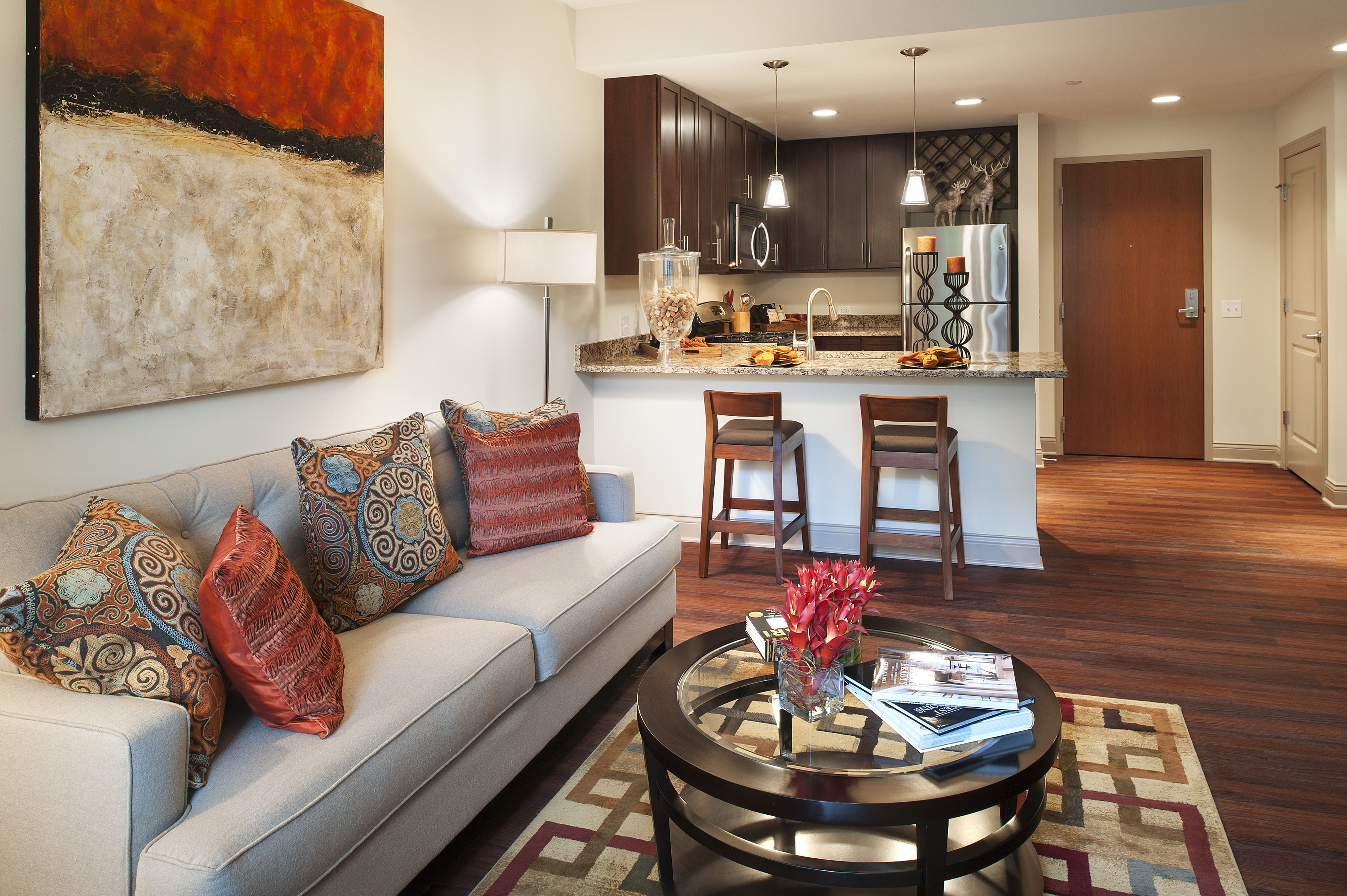 Model apartment home at on the Park in