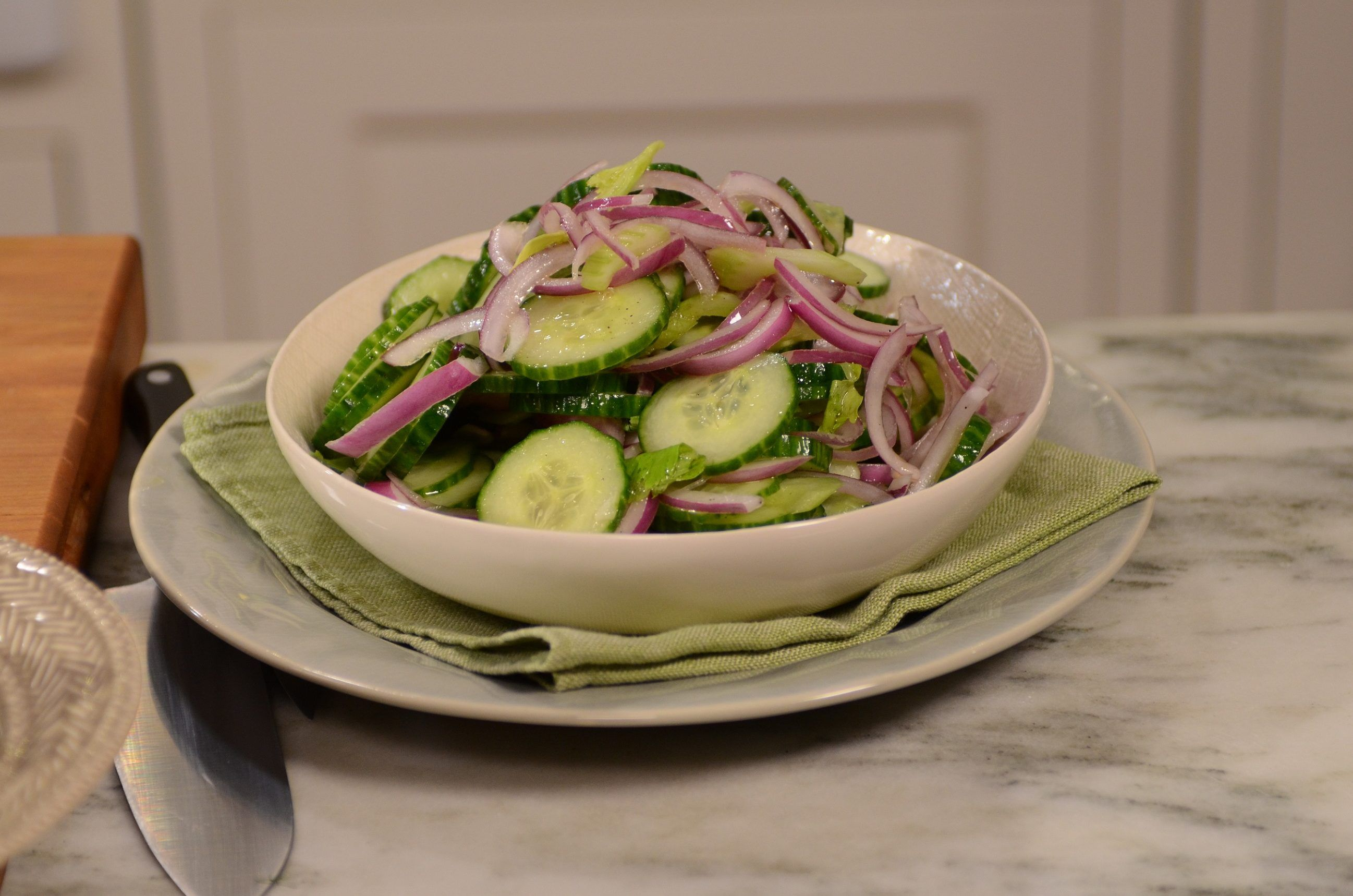 Just Wanted To Share This Delicious Recipe From Lidia Bastianich With You Buon Gusto Cucumber Salad Cucumber Salad Lidia S Recipes Recipes
