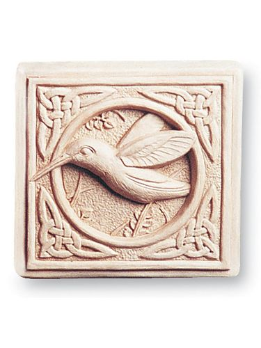 Garden Or Indoor Wall Plaque: Carruth Studio: Hummingbird