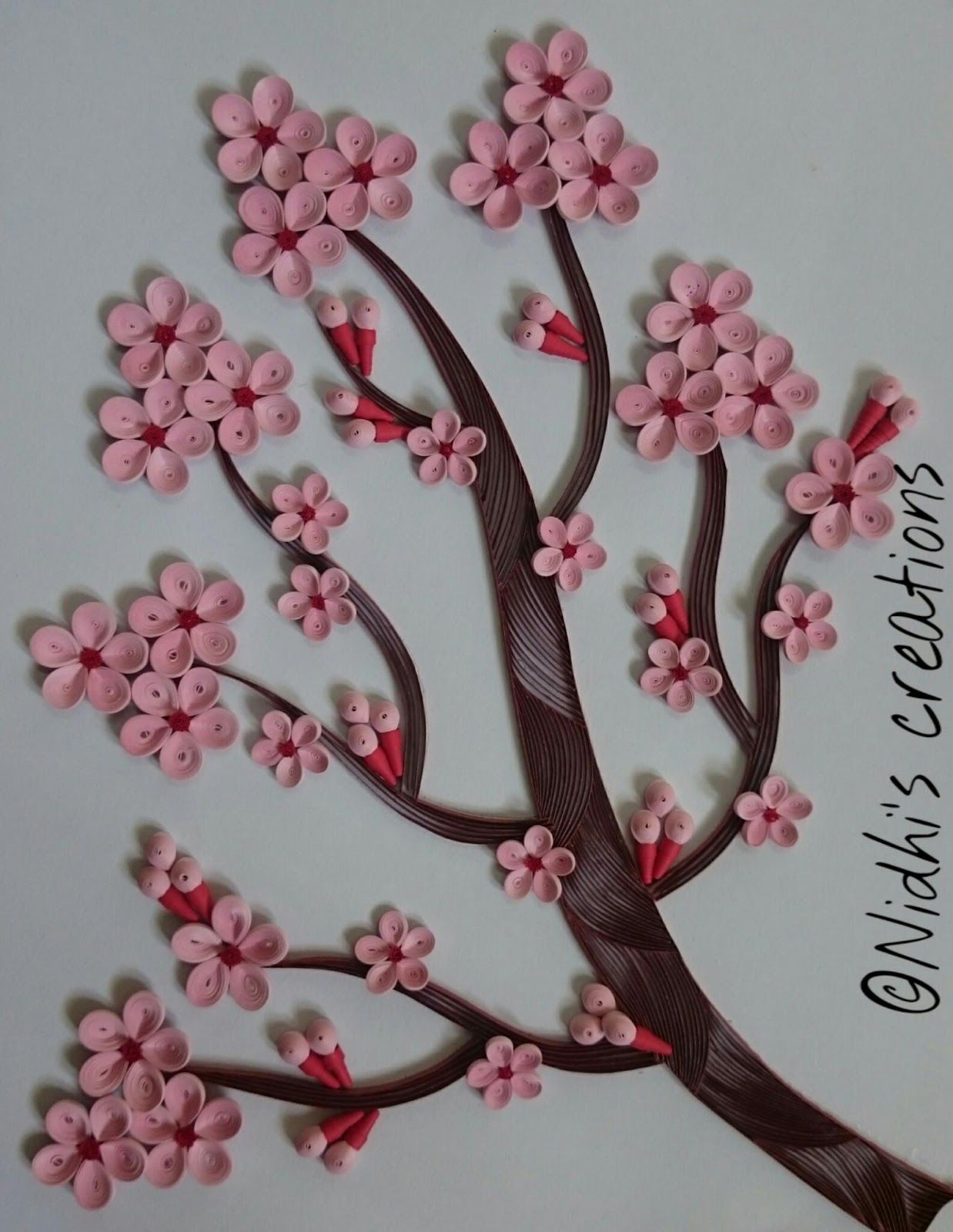 Being Creative In The World Of Paper Crafting Quilled Cherry Blossom Shell Crafts Diy Paper Quilling Designs Quilling Designs
