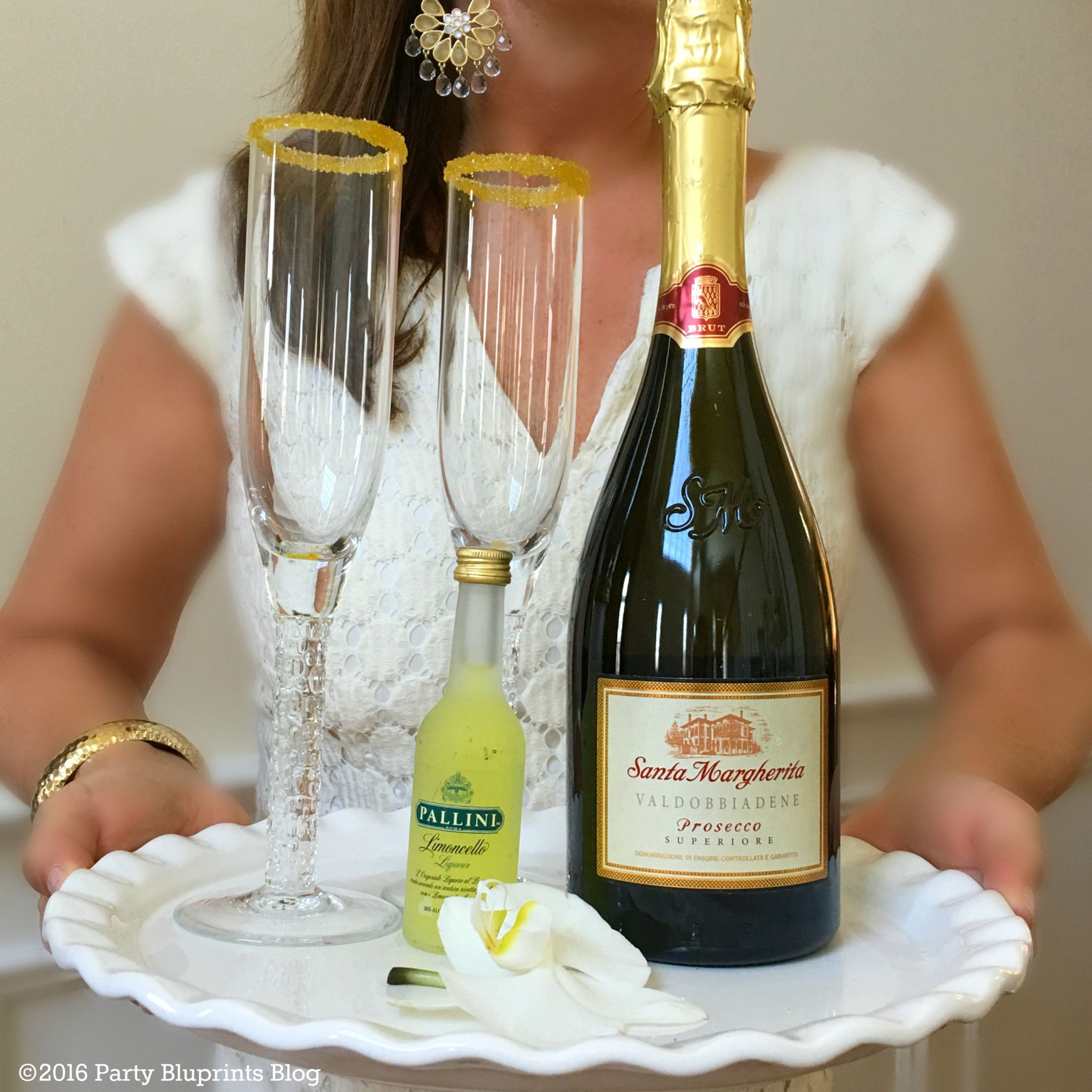 Spring Prosecco and Limoncello Cocktail #limoncellococktails