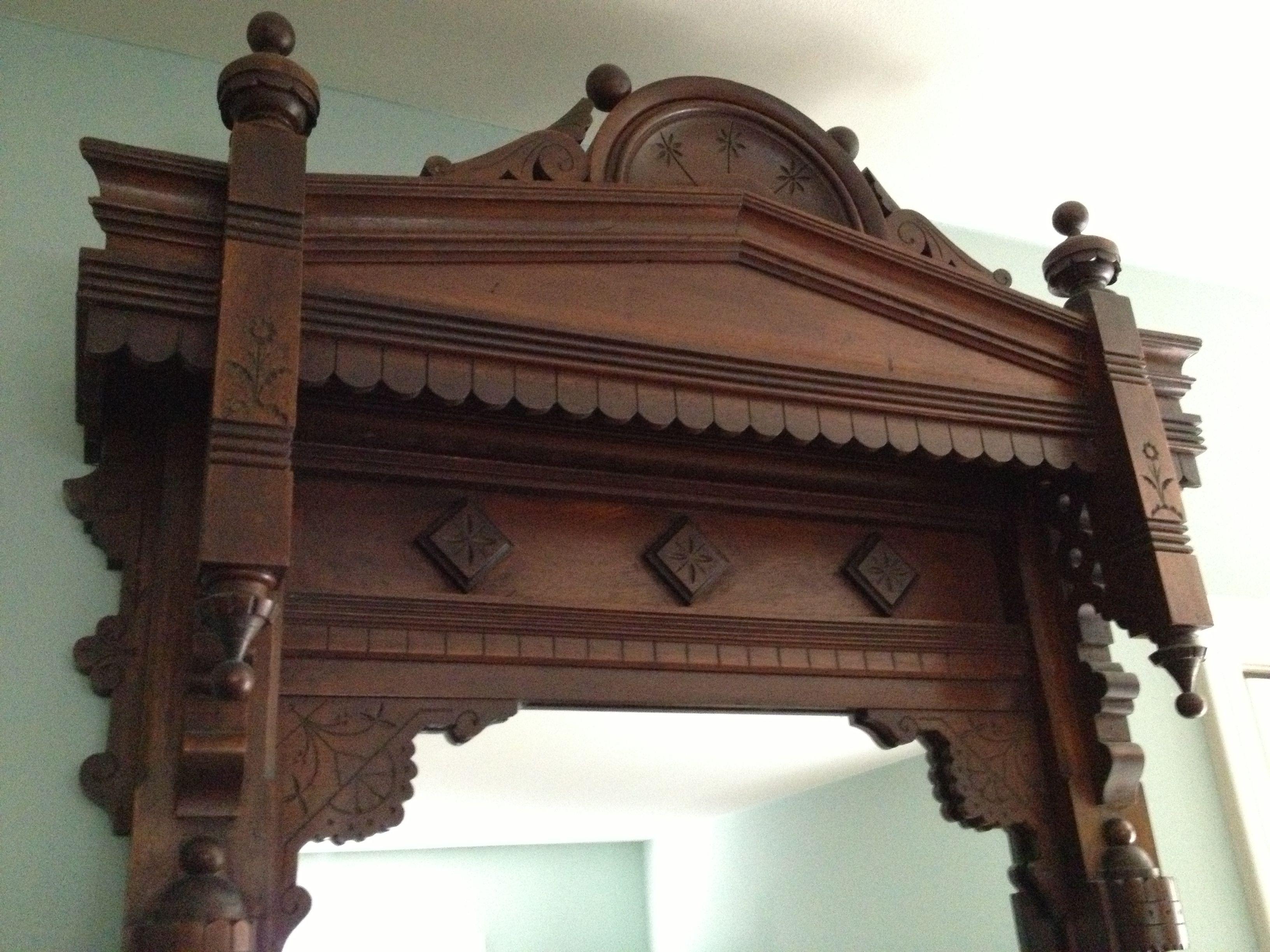 Eastlake Pier Mirror Victorian Furniture Antique Bench