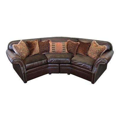 Leather Old World Style Sectional Sofa