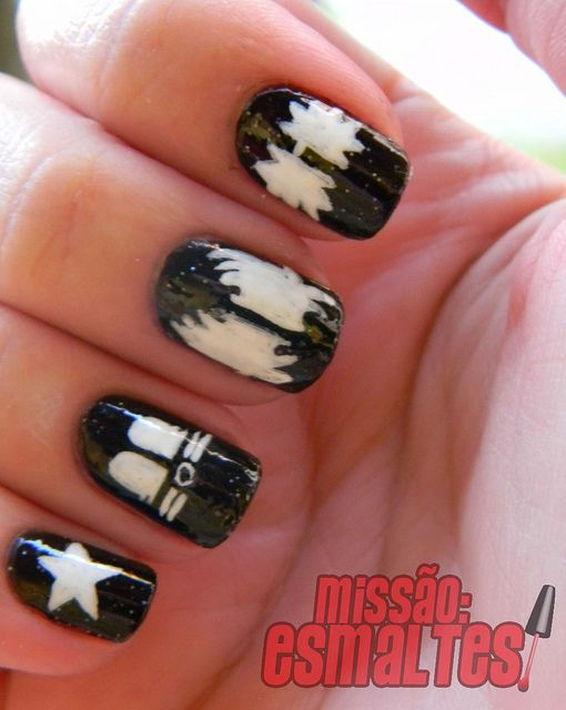 more cool kiss nail art - KISS Nail Art Kiss Nails, Kiss And Mani Pedi