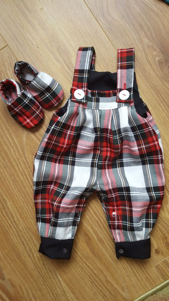 59ac58927 Dungarees - Baby - Red - Tartan - Toddler - White - Kids outfit ...