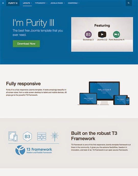 Free Joomla Responsive Theme PURITY III Magento Pinterest Template