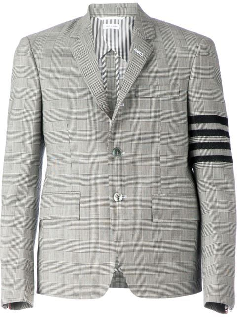 33b92567837 Shop Thom Browne check pattern blazer in Mantovani from the world s best  independent boutiques at farfetch.com. Over 1000 designers from 300  boutiques in ...