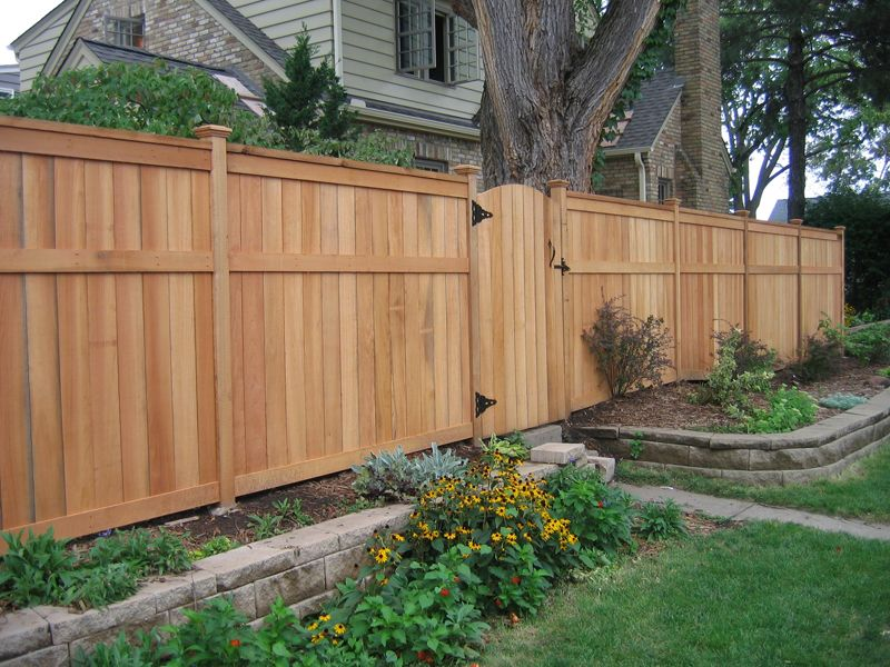 Fence for backyard full height for sides and back lower for Garden sectioning ideas