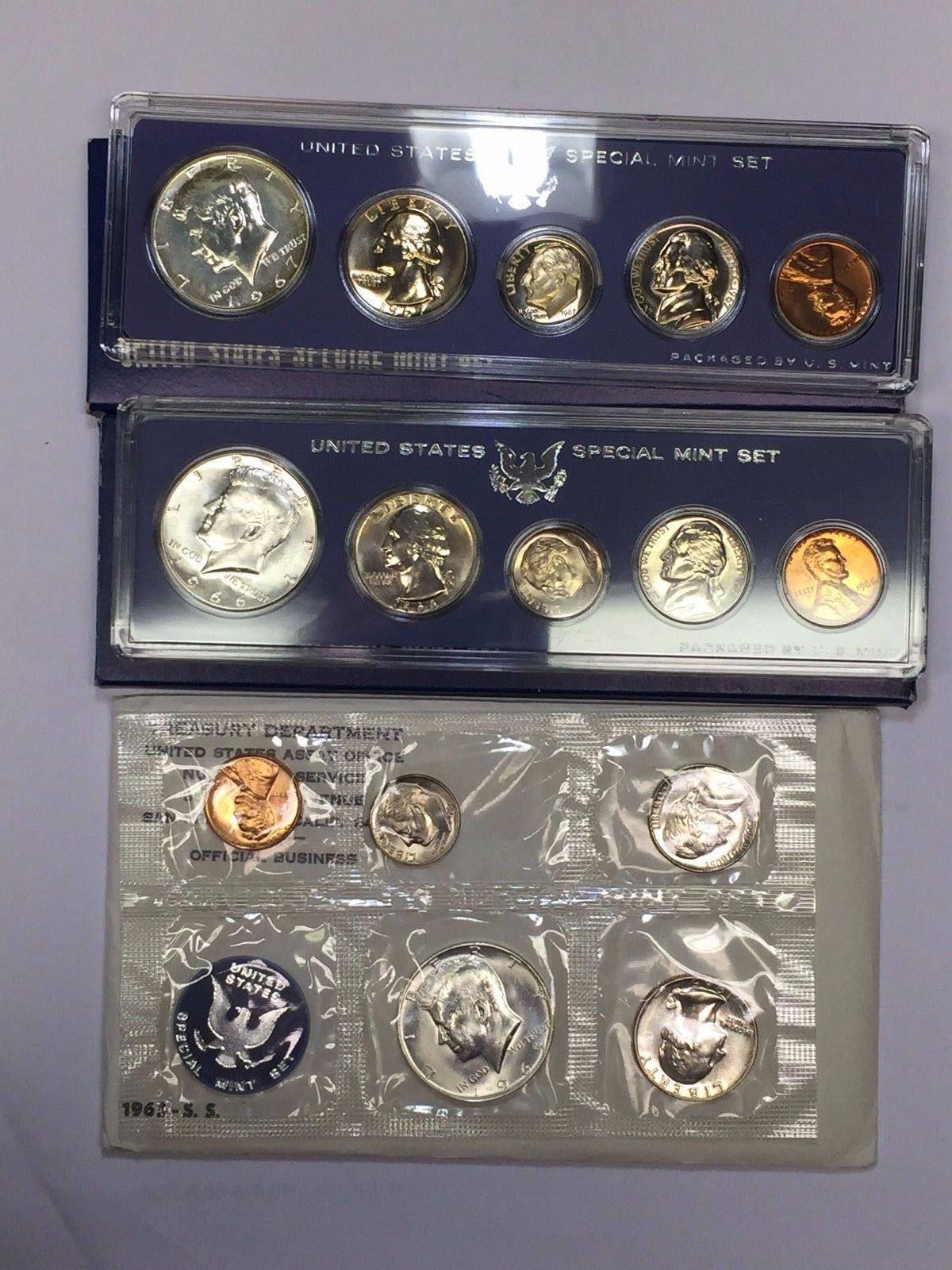 1965 1966 1967 SMS Special Mint Set Jefferson Nickels