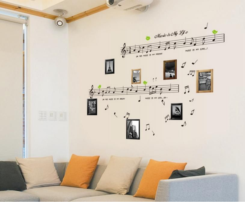 Superb Music Themed Decorating Ideas Part - 7: Mural Of Music Themed Décor Ideas