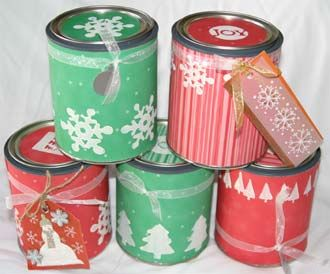Altered Christmas Paint Cans Paint Cans Home Improvement Home Improvement Projects
