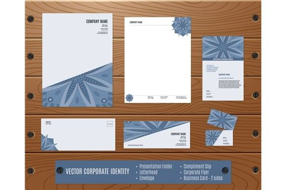 Vector corporate identity templates. Stationery Templates. $3.00