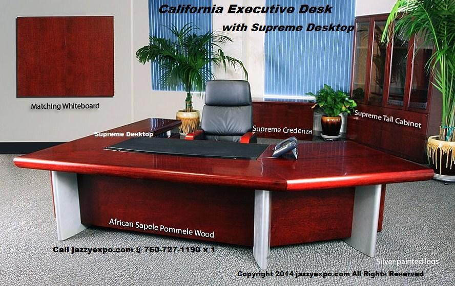 Charmant Executive Desk Furniture   California Model   Standard Top   Behind The Desk  Close Up View | Executive Desk Furniture   California Model | Pinterest