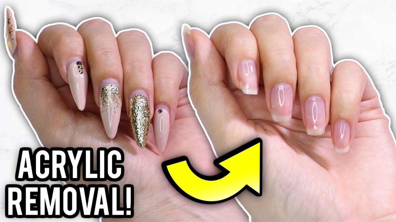 Remove Acrylic Nails At Home Step By Step How To Tutorial Youtube Remove Acrylic Nails Take Off Acrylic Nails Acrylic Nails At Home
