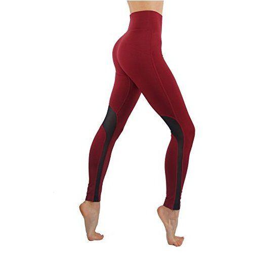 CodeFit Yoga Power Flex DryFit Workout Leggings With Mesh