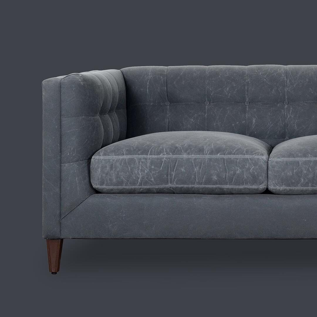 Our Atticus Sofa In Waxed Canvas Fabric Roger And Chris Home Of