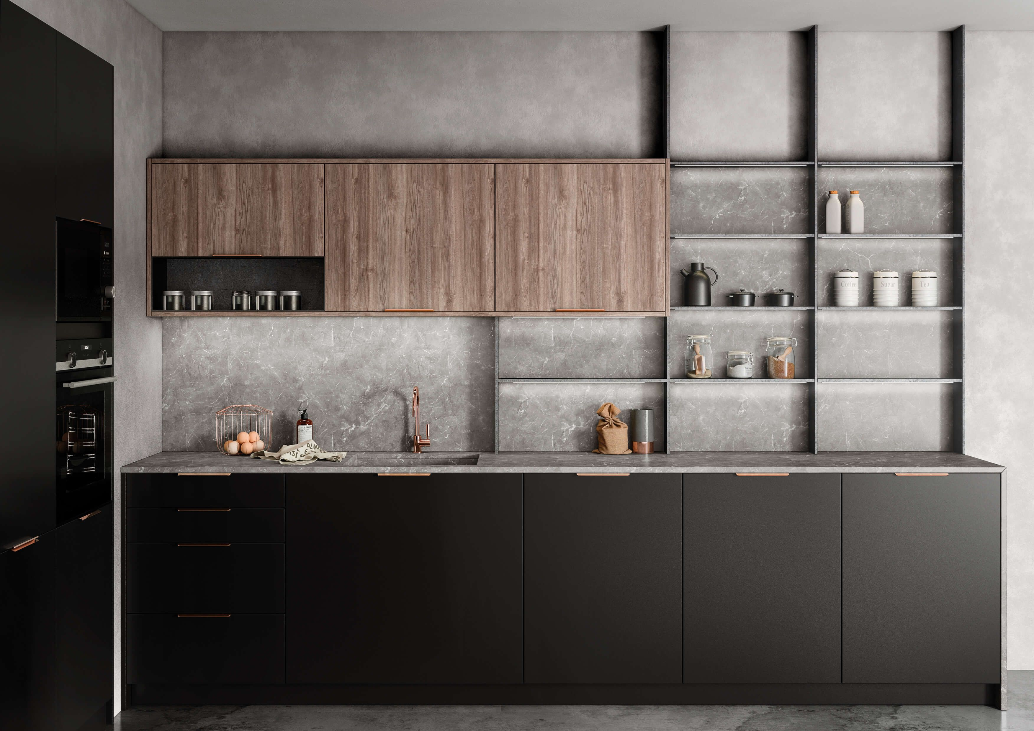 Tpc Cocinas Galeria Muebles De Cocina Encimeras Oscuras