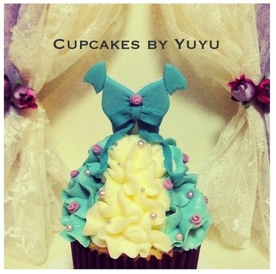 Giselle's Dress Cupcakes By YuYu #Enchanted