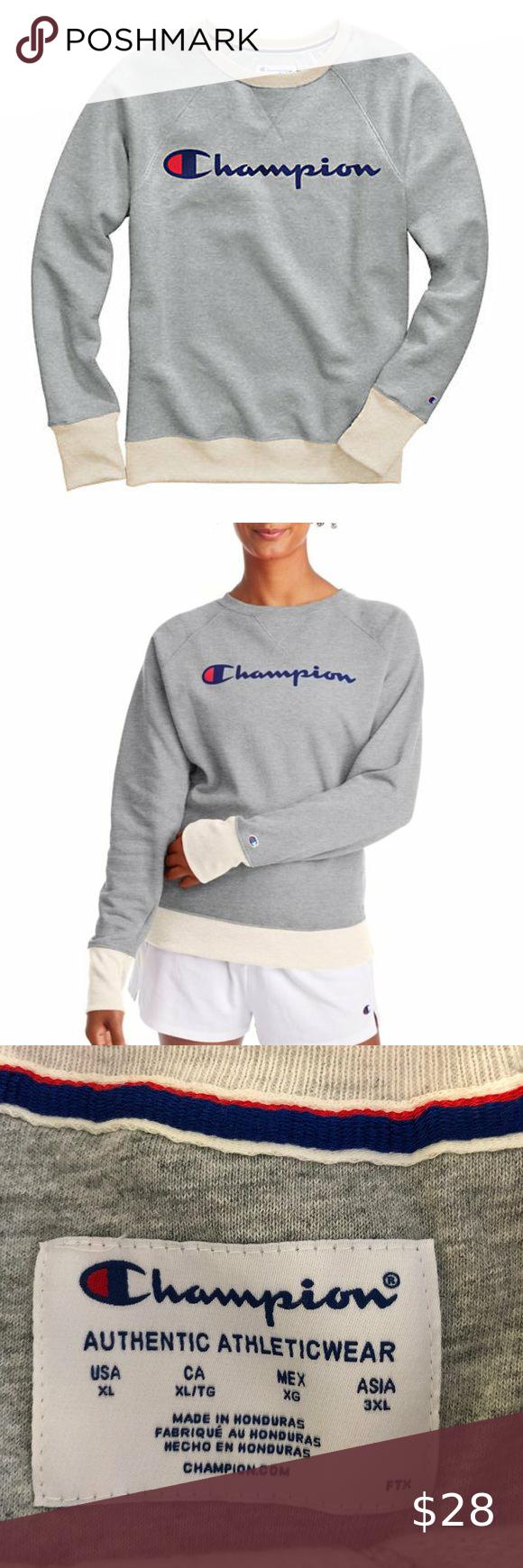 Champion Powerblend Graphic Crew Neck Sweatshirt In 2020 Branded Sweatshirts Graphic Crew Neck Sweatshirts Crew Neck Sweatshirt [ 1740 x 580 Pixel ]