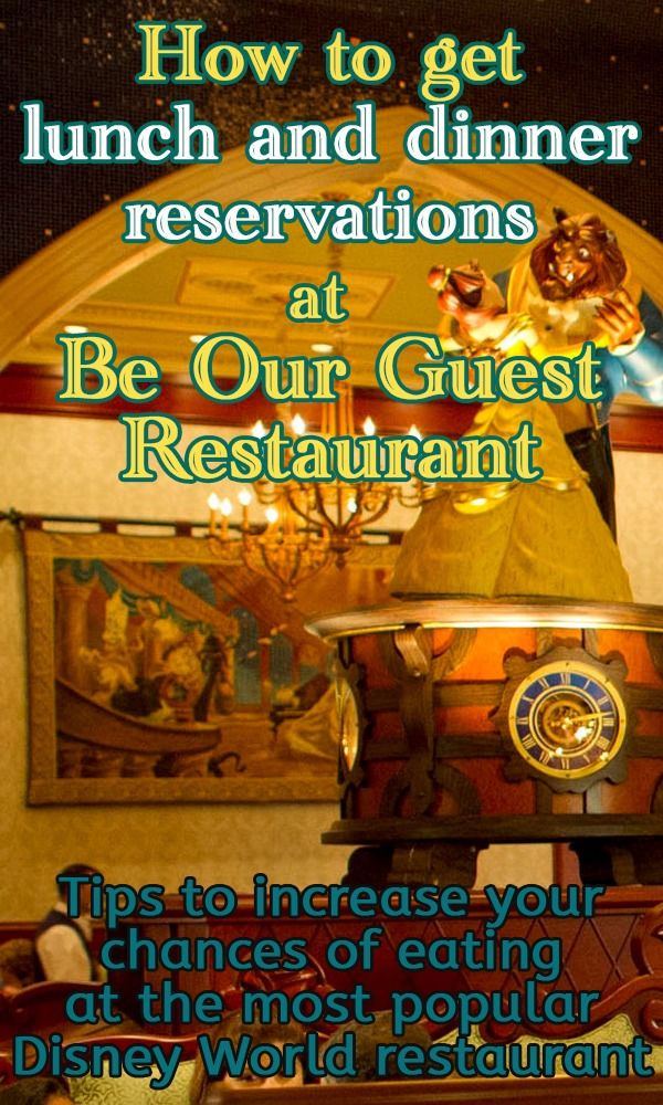 Tips to help you increase your chances of eating at Be Our Guest Restaurant (updated w/new paper FastPass info for people in the standby line)