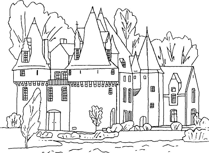 Castle Coloring Page Coloring Book Resim