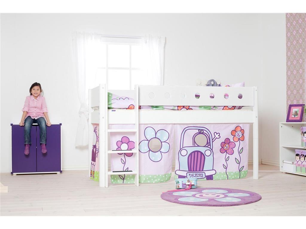 Exceptional Halbhohes Bett Weiß Mit Vorhang Und Lattenrost, Flexa White 90x200cm, Jetzt  Bestellen Unter: Nice Ideas