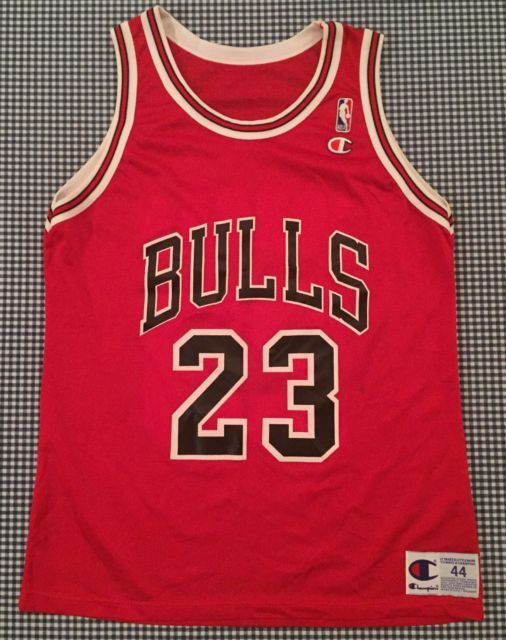 official photos 40e89 f5057 Vintage Michael Jordan Chicago Bulls Champion Replica #23 ...