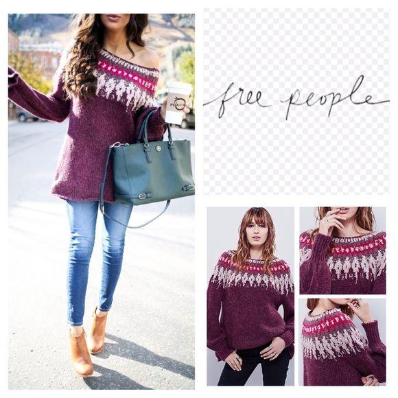 Free People Baltic Fair Isle Pullover Sweater. NWT NWT | Fair ...
