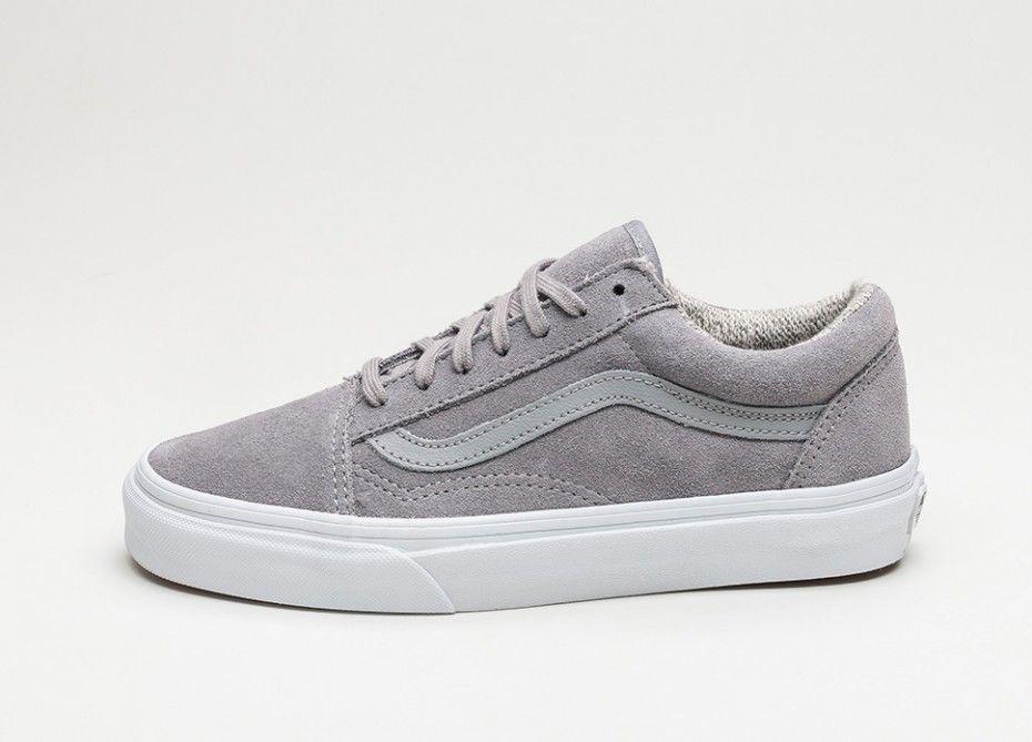 vans shoes old skool grey true white