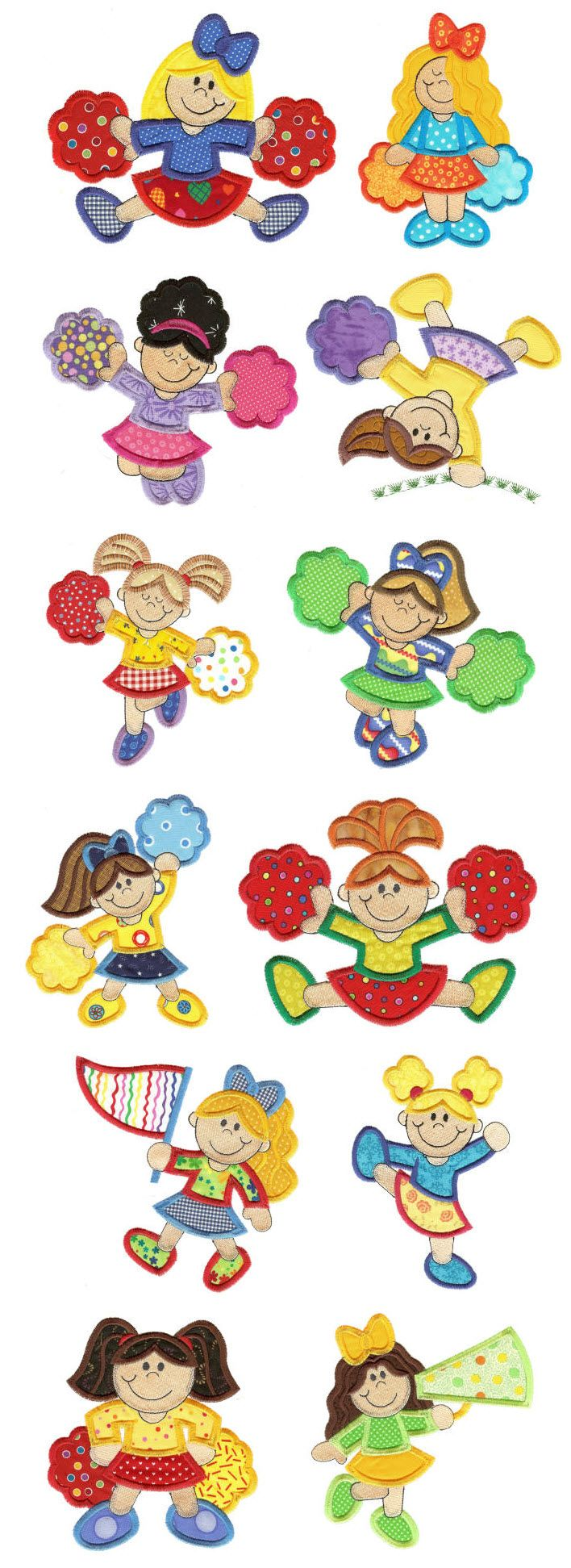 Embroidery | Free Machine Embroidery Designs | Cheerleaders Applique
