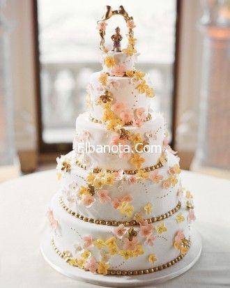 كيكة الزفاف 2014 اشكال جديدة قوالب كيك للعروس اشكال ورتة العروسين ليلة العمر عرو Leftover Wedding Cake Sugar Flower Wedding Cake Wedding Cake Decorations