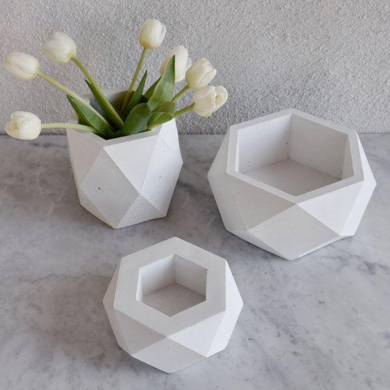 Concrete Pots - Vases - Planter - Set Of 3