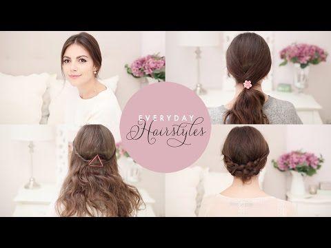 M 4 coiffures faciles pour la rentrée - YouTube
