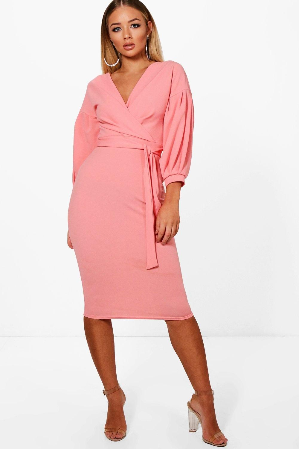 f238073d Click here to find out about the Off The Shoulder Wrap Midi Bodycon Dress  from Boohoo, part of our latest Dresses collection ready to shop online  today!