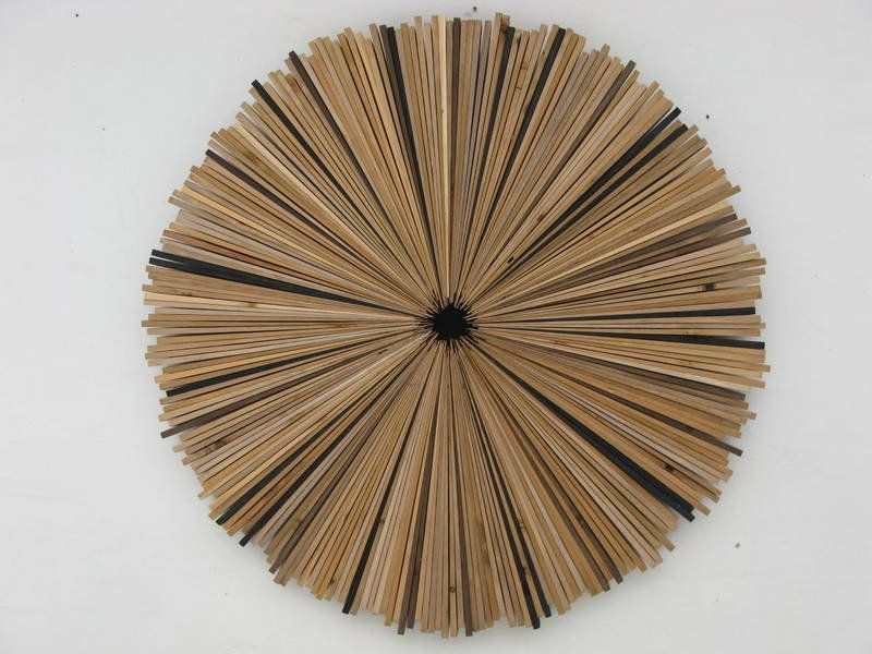 Large Round Wood Wall Art Brown Circle Painting Large
