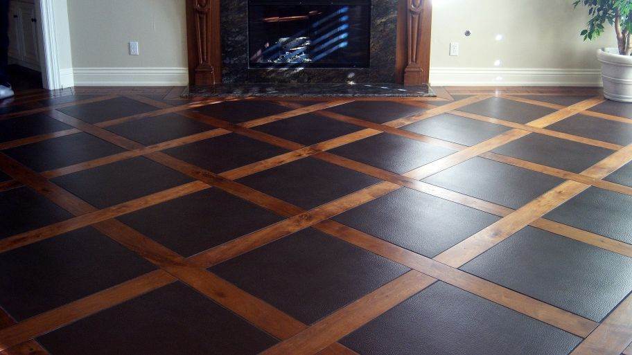 Leather Flooring Debuts as Green Option is part of home Improvement Flooring - Recycled leather floors offers a new durable and ecofriendly alternative for homeowners