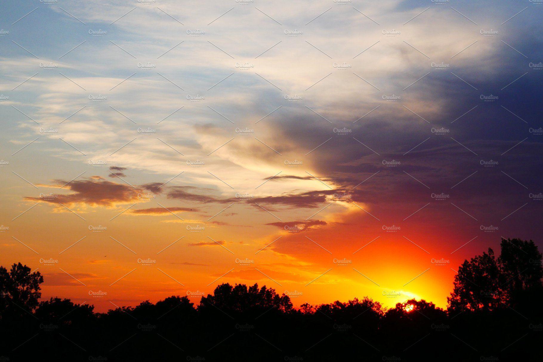 Colorful Sunset In 2020 Scenery Background Sunset Landscape Landscape Scenery