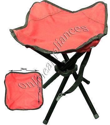 Portable Heavy Duty  Legs Camping Stool Folding Chair Seat Fishing Hiking Bbq