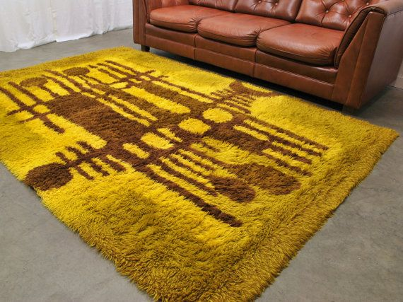 Big Bold Scandinavian Rya Rug 6x9 By MadsenModern On Etsy, $429.00