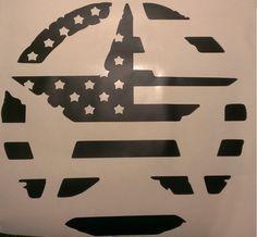 Military Star American Flag Hood Decal Jeep Wrangler Jk Cj Tj Jku Car Truck Usa Jeep Stickers Jeep Wrangler Jk Jeep Decals
