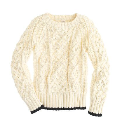 Boys' fisherman's cotton cable sweater. Who doesn't love a chunky ...
