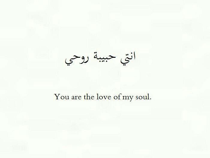 انتي حبيبة روحي Love Quotes For Him Arabic Tattoo Quotes Arabic Love Quotes