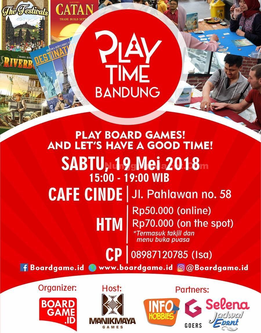 Kunjungi dan ikutilah PlayTime Bandung Pada tanggal Sabtu