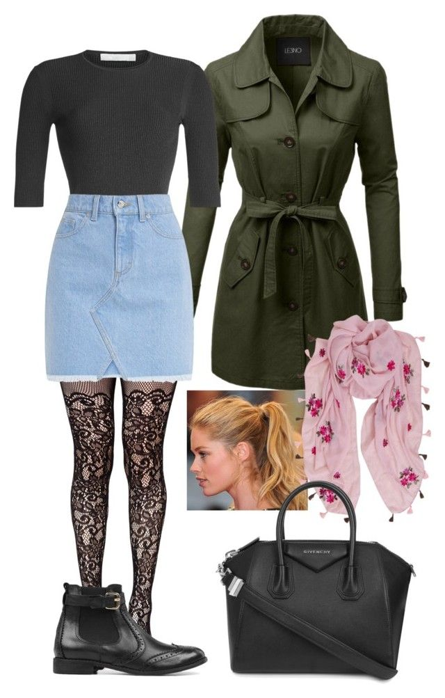 """""""Rain."""" by frenkiefashion on Polyvore featuring Champion, LE3NO, Leg Avenue, Vince, Humble Chic, Carvela and Givenchy"""