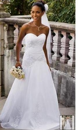 813c5b674b Used David s Bridal Wedding Dress V9454