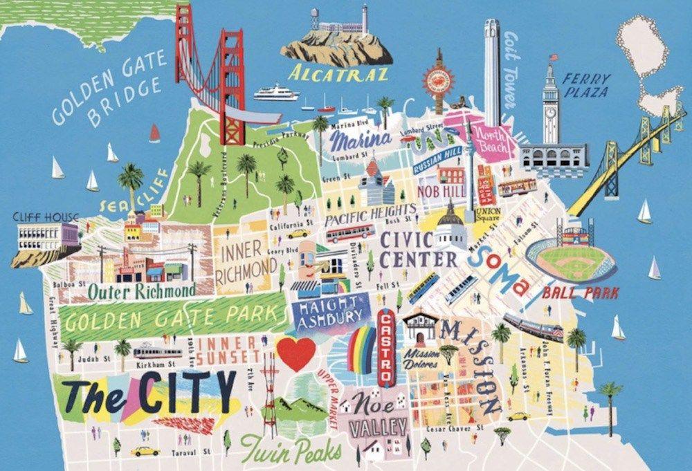 Mapa De San Francisco.Mapa Com Pontos Turisticos De San Francisco Sf Noong 2019